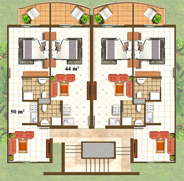 2 Bedroom Apartment Layout Design
